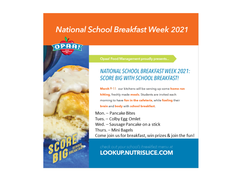 National School Breakfast Week - Mar. 8-11